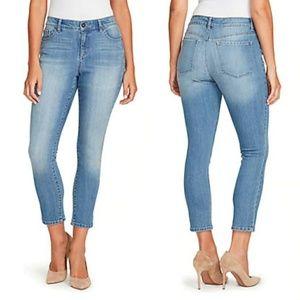 BANDOLINO - mandie slim crop jeans/fairbanks